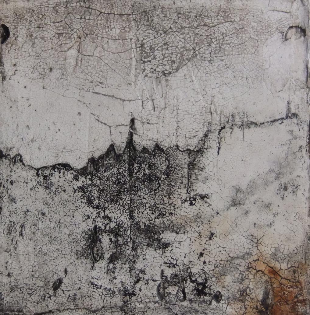 Werknr. SK_115 | O. T. | Intonaco, Öl, Wachs auf Holz | 30 x 30 cm