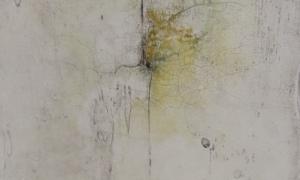 Werknr. SK_114 | O. T. | Intonaco, Öl, Wachs auf Holz | 30 x 30 cm