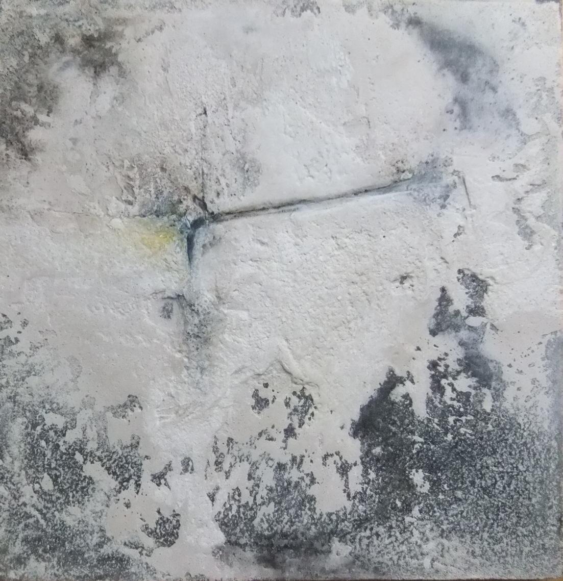 Werknr. 115_o.T._Gipshaftputz, Marmormehl, Kasein, Pigmente auf Leinwand_60x60cm_2012
