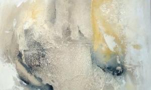 Werknr. 112_o.T._Gipshaftputz, Marmormehl, Kasein, Pigmente auf Leinwand_90x90cm_2010 (2)