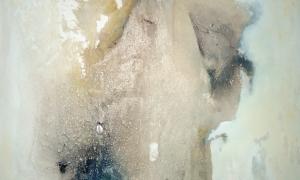 Werknr. 113_o.T._Gipshaftputz, Marmormehl, Kasein, Pigmente auf Leinwand_90x90cm_2010